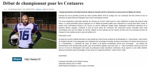 Début de championnat pour les Centaures